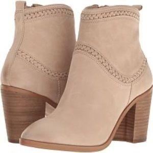 ALDO Cathrina Braid Detail Tan Leather Booties
